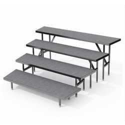 Estrade 4 niveaux 183 x 40 cm Angle
