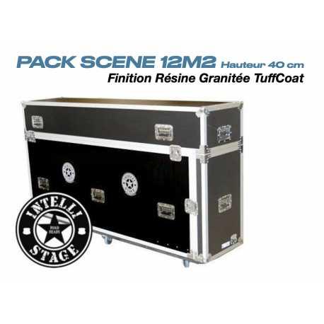 Pack scène IntelliStage 12m2 résine granitée TuffCoat